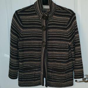 Croft & Barrow Brown Sweater Cardigan, Medium